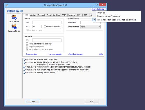 SSH client connection