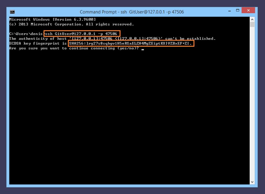 Configuring an SSH Server account for Git access   Bitvise